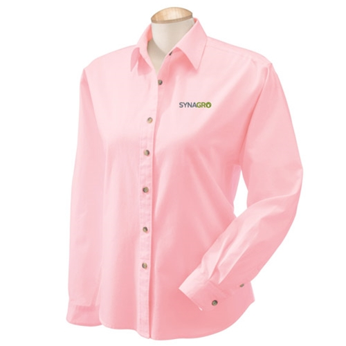 66bf2f9ec09 SwagDog.com - SYNAGRO Ladies  39  Long-Sleeve Titan Twill Dress Shirt
