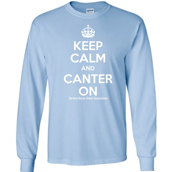 HHSA Canter On Long Sleeve Tees -  Lt Blue