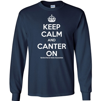 HHSA Canter On Long Sleeve Tees -  Navy