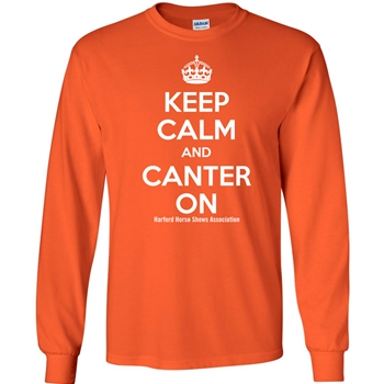 HHSA Canter On Long Sleeve Tees - Orange