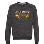 Seed School Snow Heather French Terry Raglan Crew