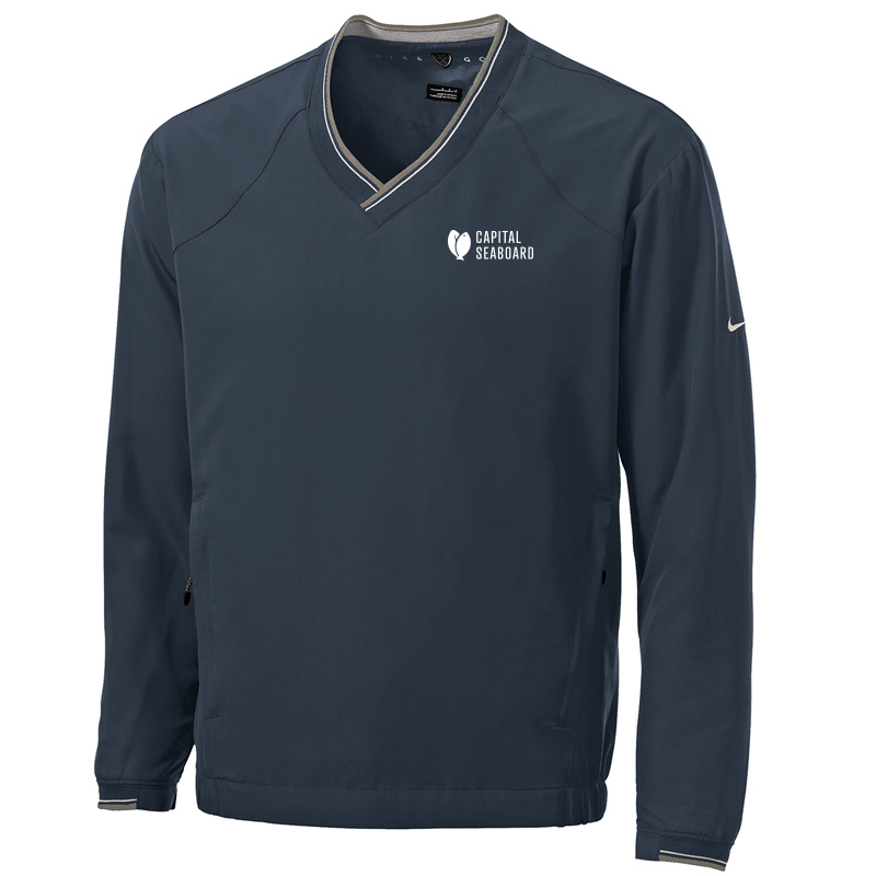 Capital Seaboard Nike Golf V-Neck Wind Shirt-Navy
