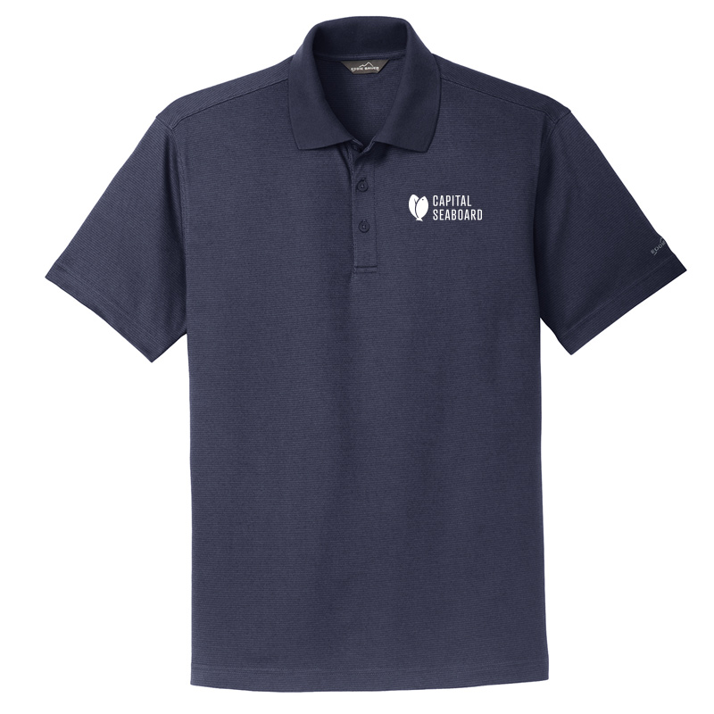 Capital Seaboard Eddie Bauer Performan Polo Mens-Navy