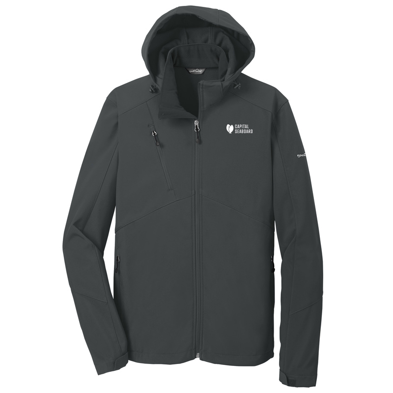 Capital Seaboard Eddie Bauer Hooded Soft Shell-Grey