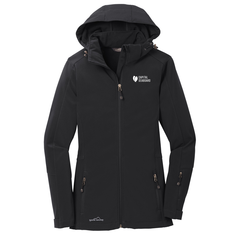 Capital Seaboard Eddie Bauer Hooded Soft Shell-Black
