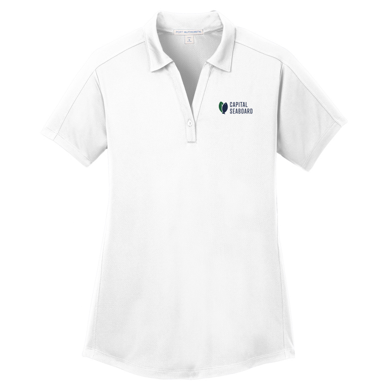 Capital Seaboard Diamond Jacquard Polo - Womens-White