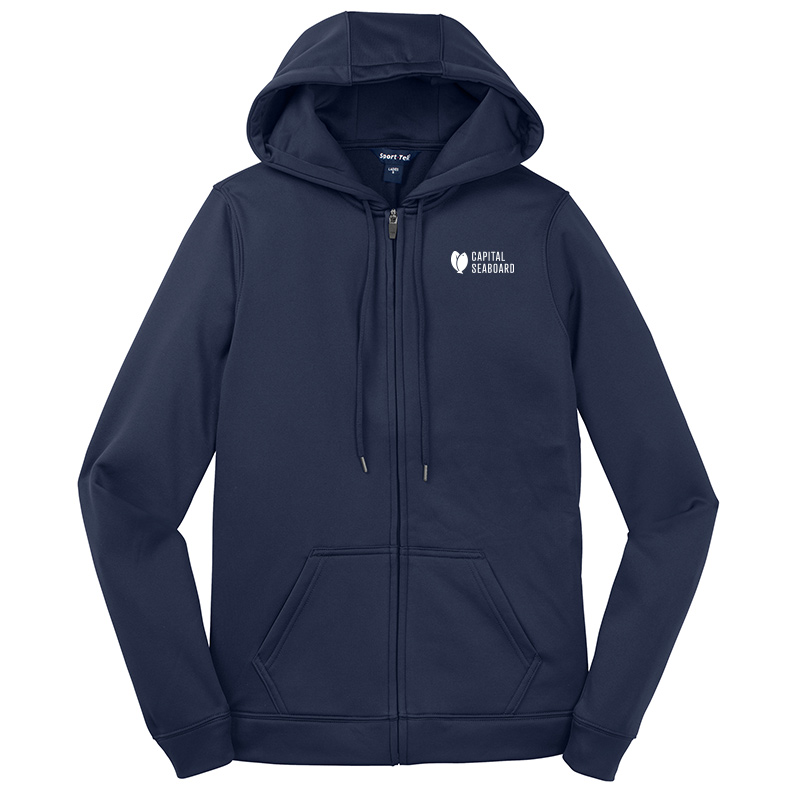Capital Seaboard Sport Tek Sport Wick Fleece Jackets Womens-Navy
