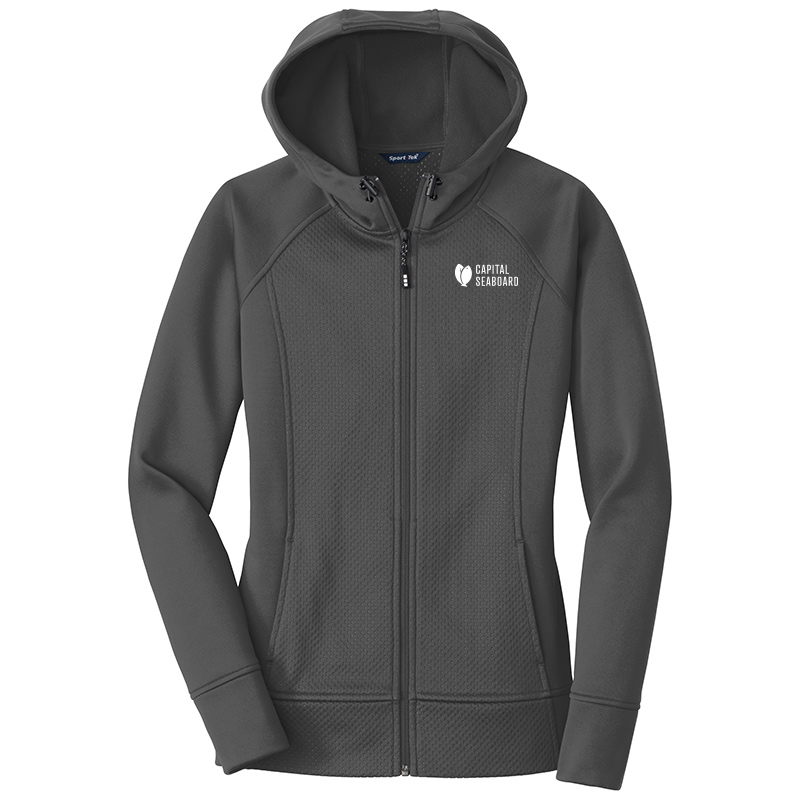 Capital Seaboard Sport Tek Full Zip Hooded Jackets Womens-IronGrey