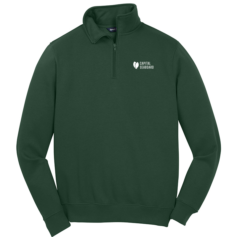 Capital Seaboard Sport Tek 1/4 Zip Sweatshirts-ForestGreen