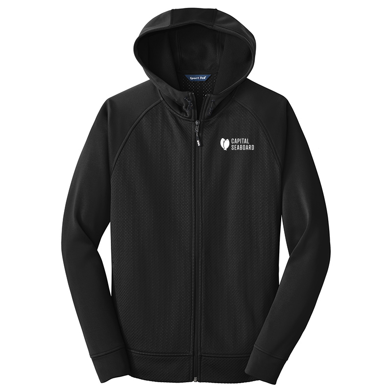 Capital Seaboard Sport Tek Full Zip Hooded Jackets Mens-Black