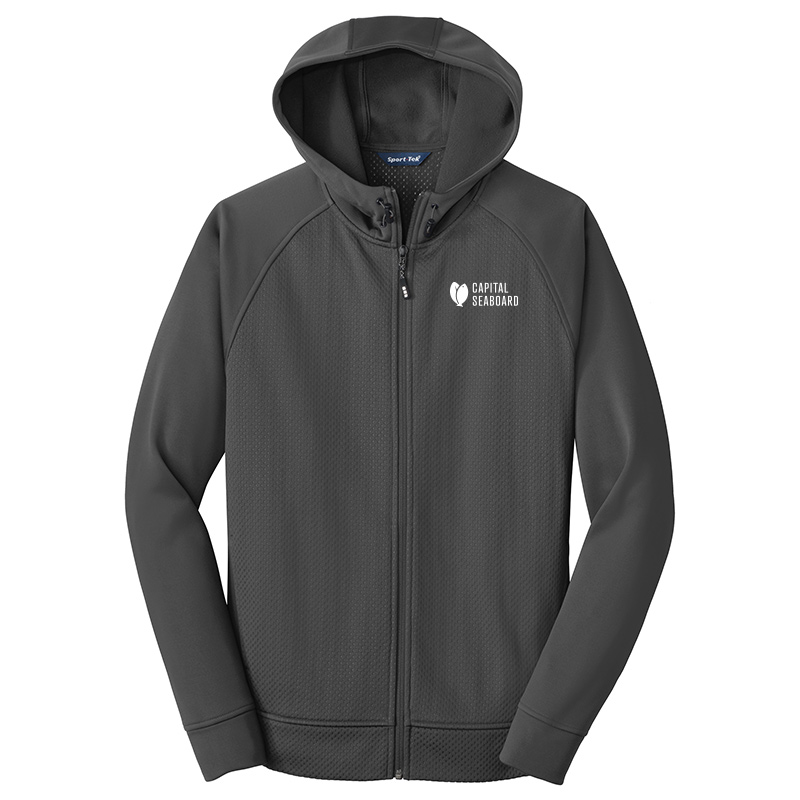 Capital Seaboard Sport Tek Full Zip Hooded Jackets Mens-IronGrey