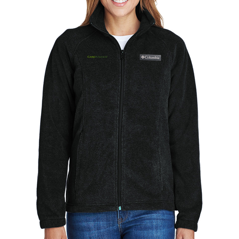 CareKinesis Columbia Ladies' Benton Springs™ Full-Zip Fleece - Black