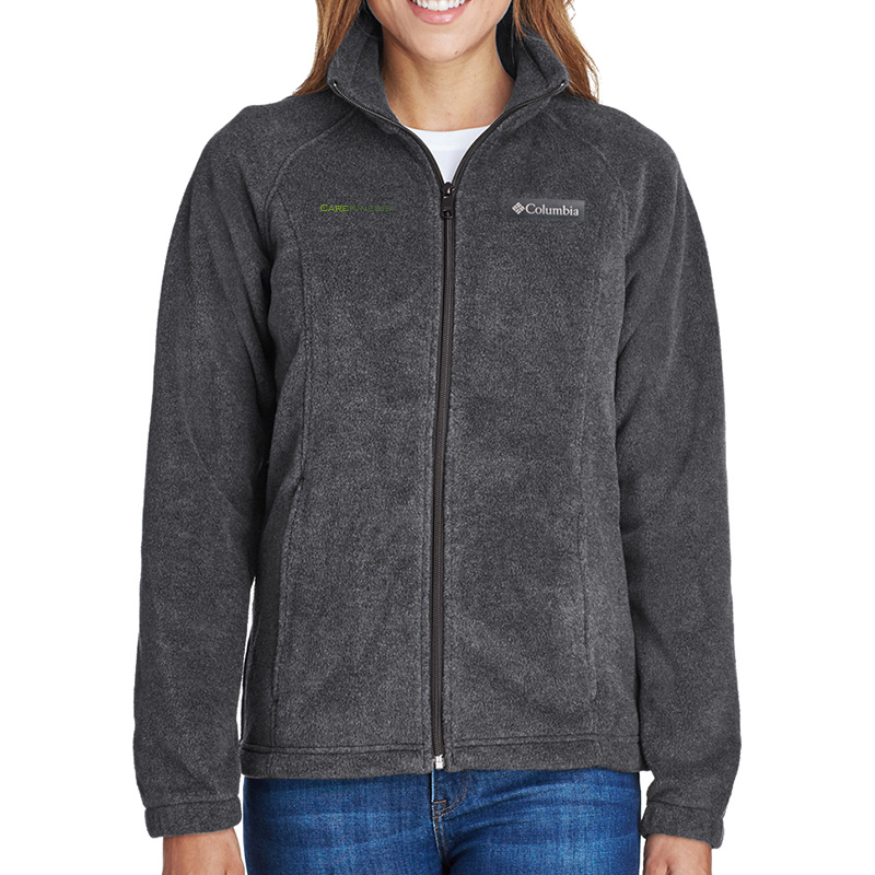 CareKinesis Columbia Ladies' Benton Springs™ Full-Zip Fleece - CharcoalHeather
