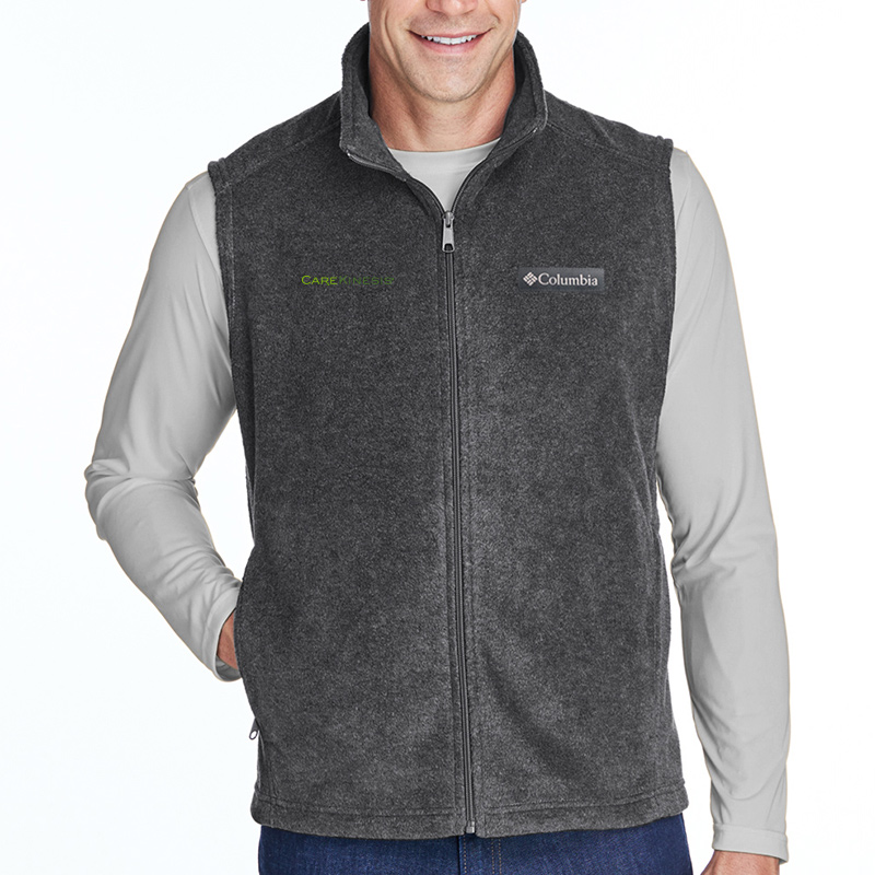 CareKinesis Columbia Men's Steens Mountain™ Vest - CharcoalHeather
