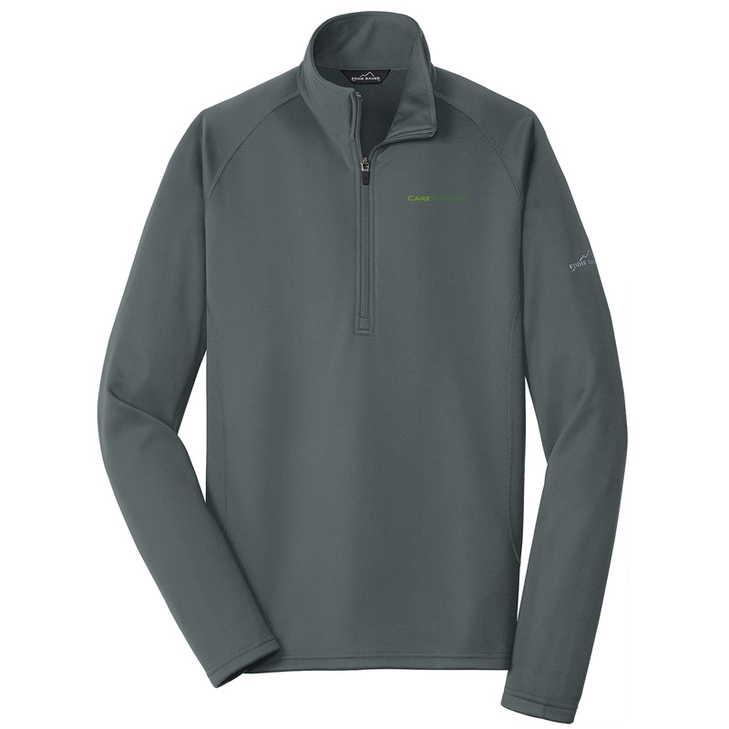 CareKinesis Eddie Bauer® Smooth Fleece Base Layer 1/2-Zip - IronGate