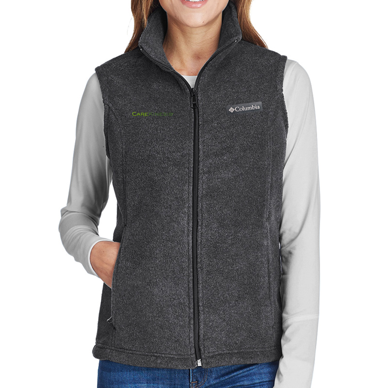 CareKinesis Columbia Ladies' Benton Springs™ Vest - CharcoalHeather
