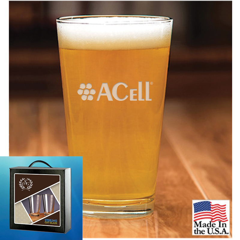 Acell Set of 2 Classic Ale 16 oz. Glasses