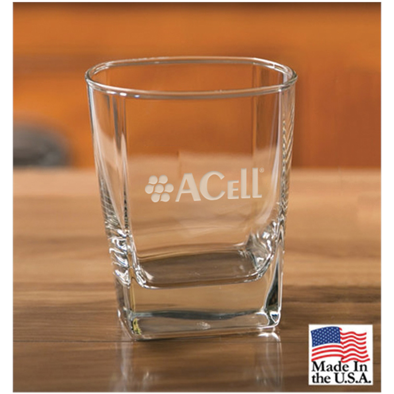 Acell Set of 4 Signature Square Double Old Fashion glasses