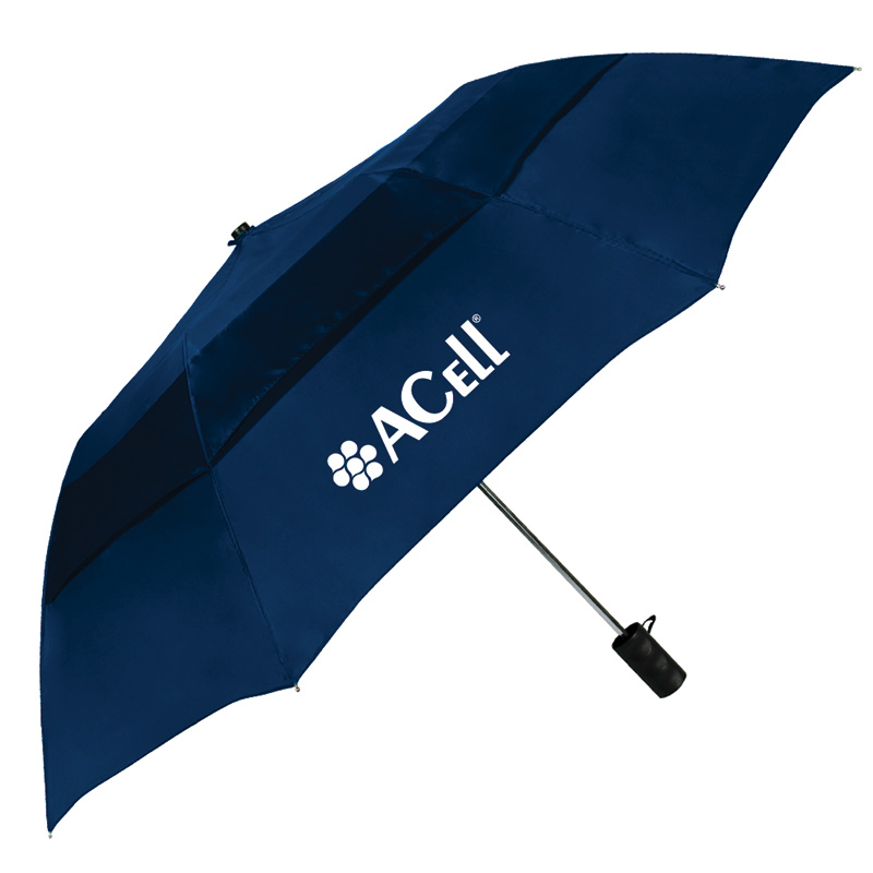 Acell Navy Blue Vented Grand Practicality folding Umbrella 46""