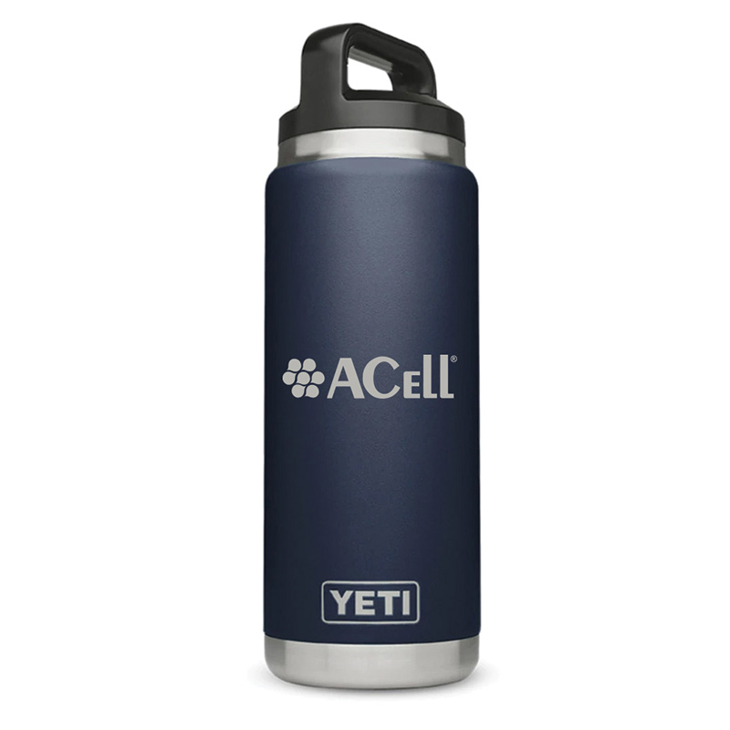 Acell Navy Yeti 26oz. Rambler bottle
