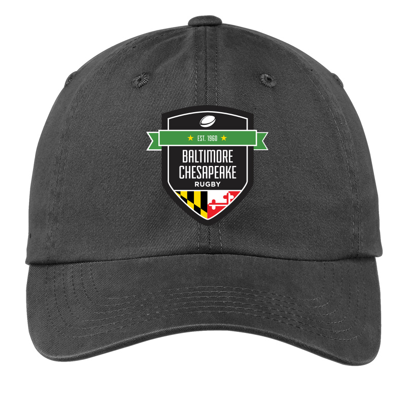 Baltimore Chesapeake Rugby  Port Authority Garment Washed Cap :Black