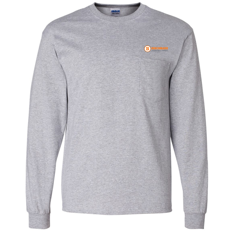 Benchmark Long Sleeve Pocket Tee - Sport Grey