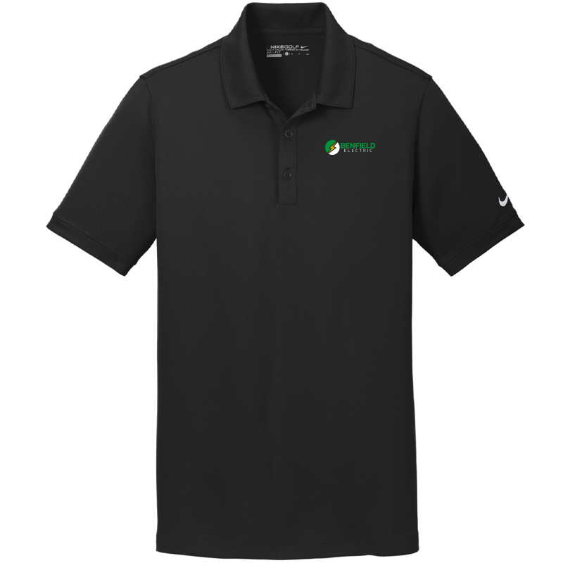 Benfield Electric Nike Golf Men's Dri-FIT Solid Icon Pique Modern Fit Polo -Black