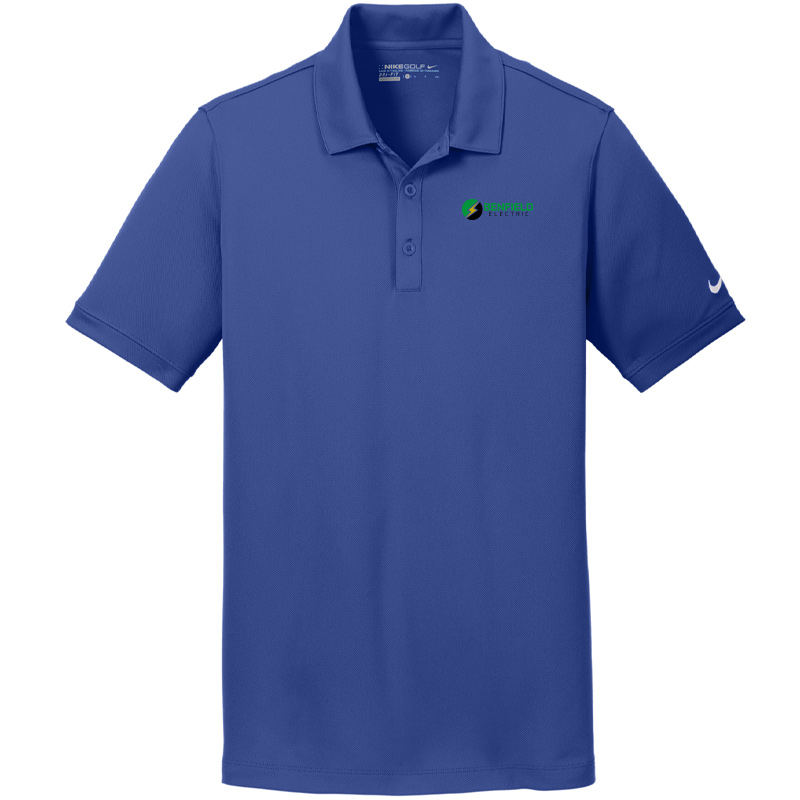 Benfield Electric Nike Golf Men's Dri-FIT Solid Icon Pique Modern Fit Polo -Deep Royal Blue