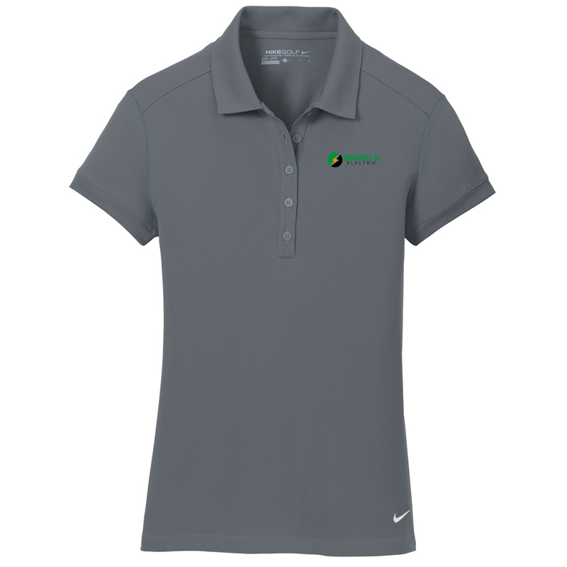 Benfield Electric Nike Golf – Ladies Dri-FIT Solid Icon Pique Modern Fit Polo -Dark Grey