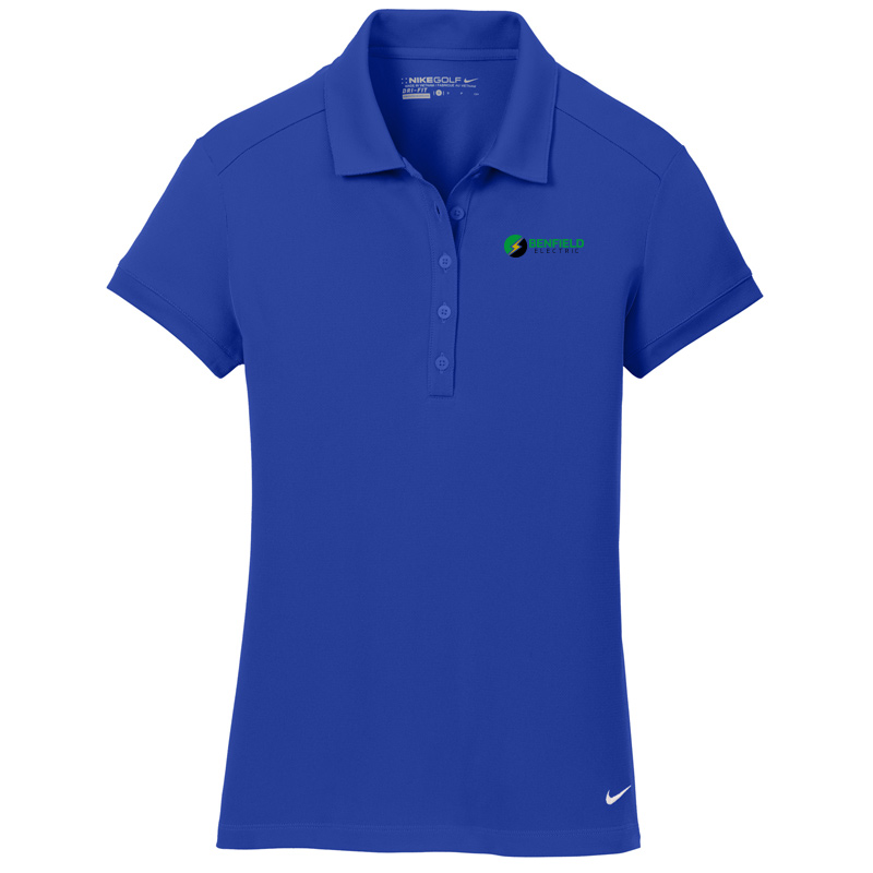 Benfield Electric Nike Golf – Ladies Dri-FIT Solid Icon Pique Modern Fit Polo -Deep Royal Blue