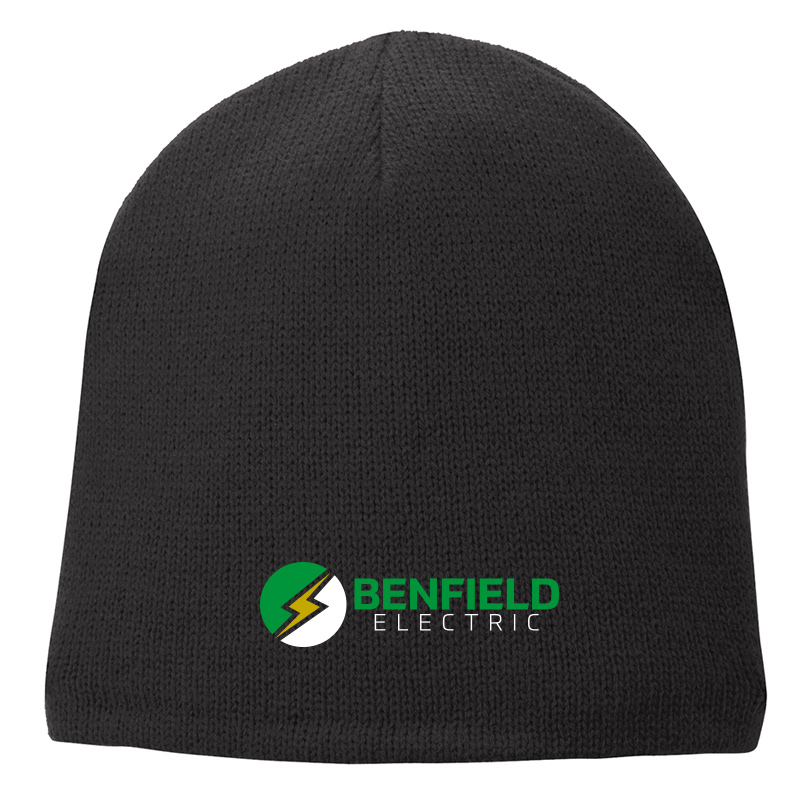 Benfield Electric Fleece-Lined Beanie Cap -Black