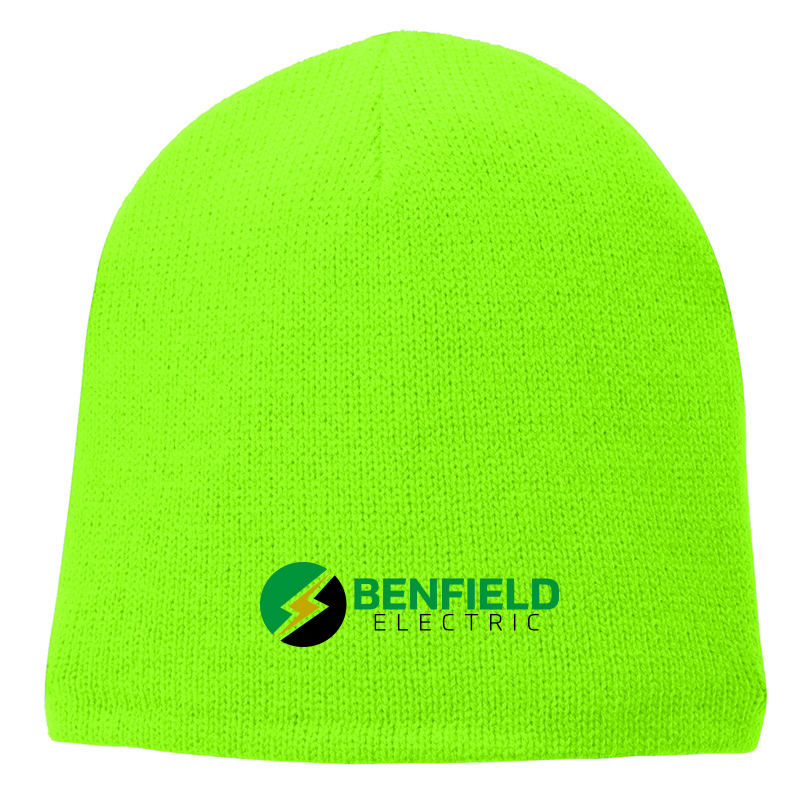 Benfield Electric Fleece-Lined Beanie Cap -Neon Green