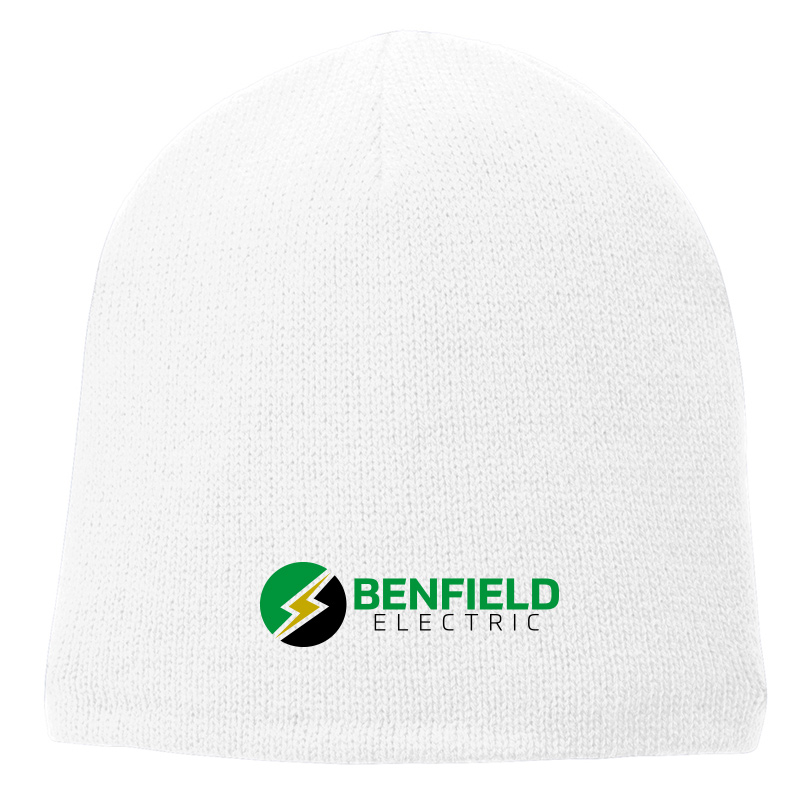 Benfield Electric Fleece-Lined Beanie Cap -White