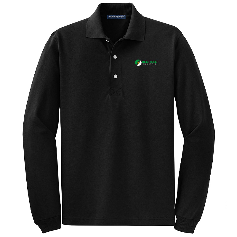 Benfield Electric Rapid Dry™ Long Sleeve Polo -Charcoal