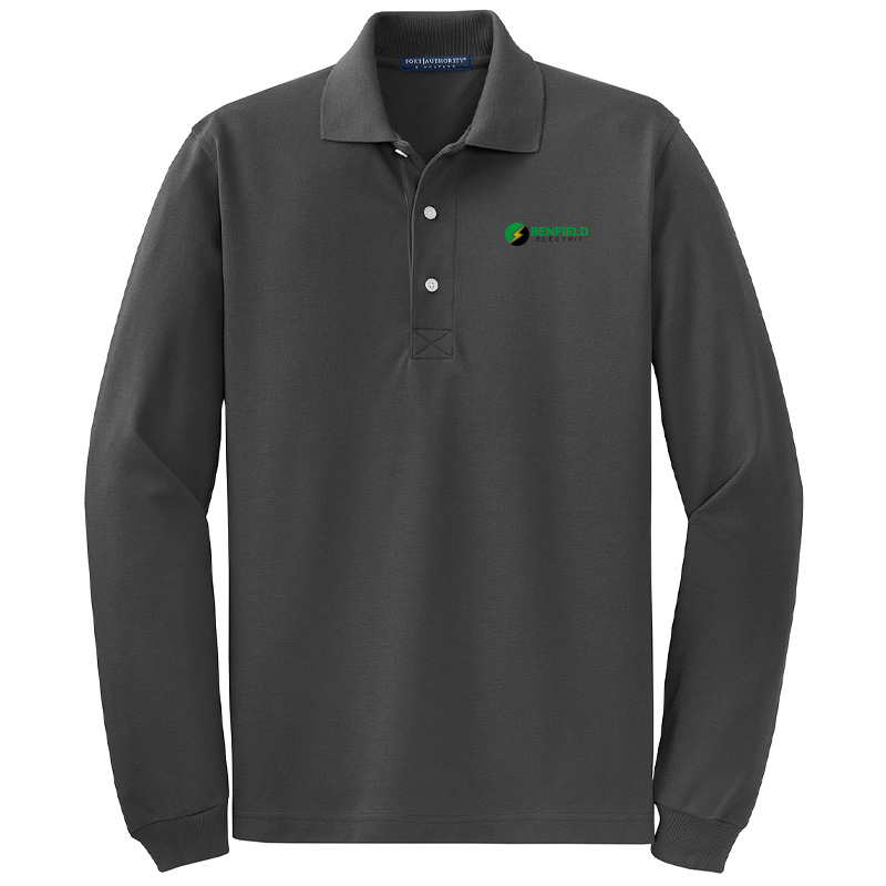 Benfield Electric Rapid Dry™ Long Sleeve Polo -Jet Black