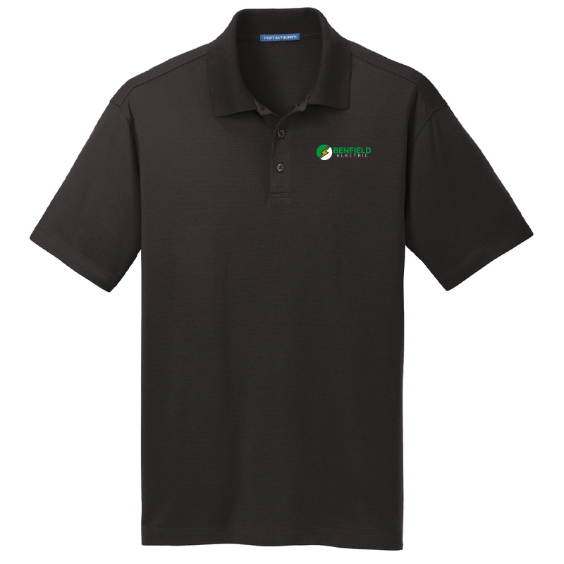 Benfield Electric Men's Port Authority Rapid Dry Mesh Polo -Black