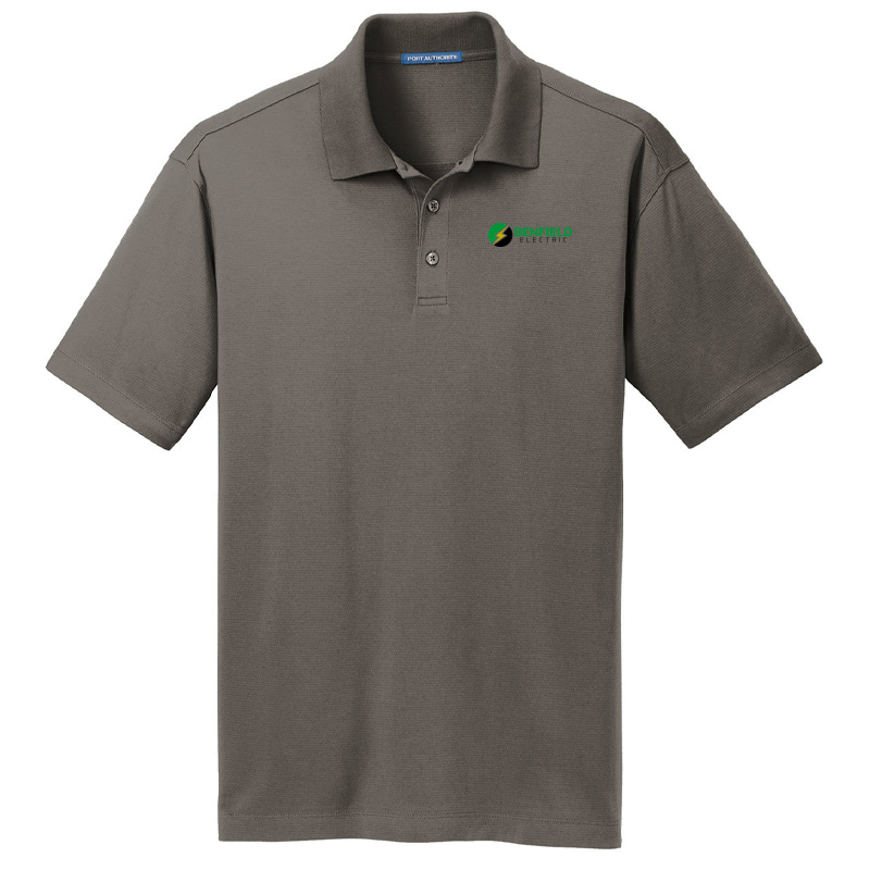 Benfield Electric Men's Port Authority Rapid Dry Mesh Polo -Smoke
