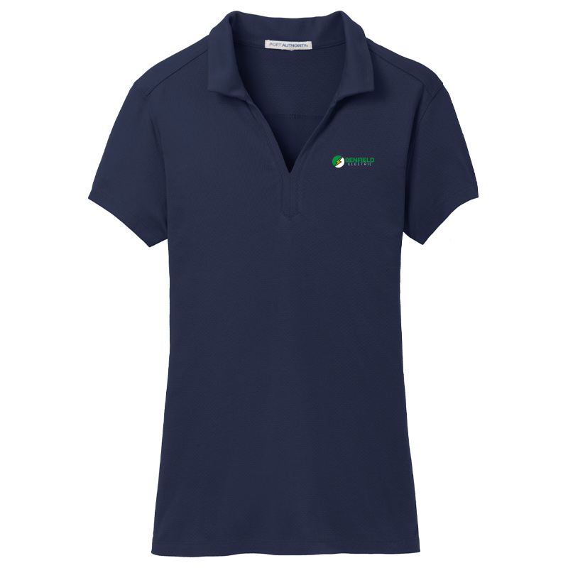 Benfield Electric Ladies Port Authority Rapid Dry Mesh Polo -True Navy