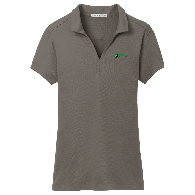 Benfield Electric Ladies Port Authority Rapid Dry Mesh Polo -Smoke