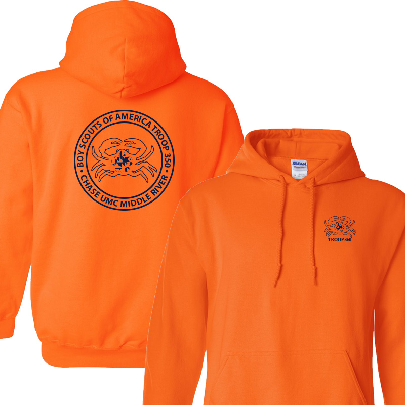 BSA 350 Hoodie - Safety Orange