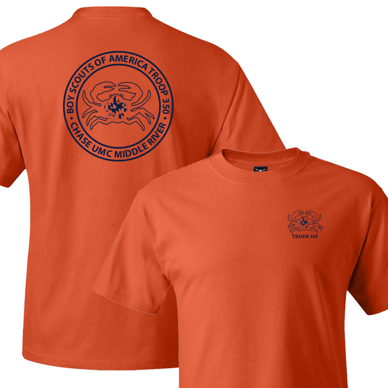 BSA 350 Short Sleeve T-Shirt - Orange