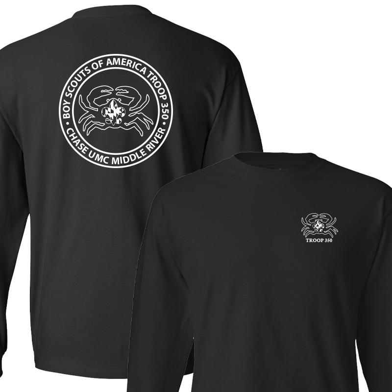 BSA 350 Long Sleeve T-Shirt - Black