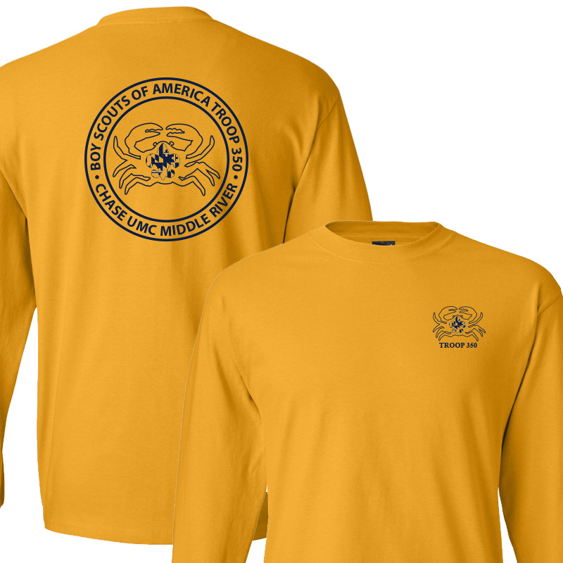 BSA 350 Long Sleeve T-Shirt - Gold