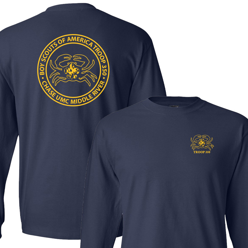 BSA 350 Long Sleeve T-Shirt - Navy