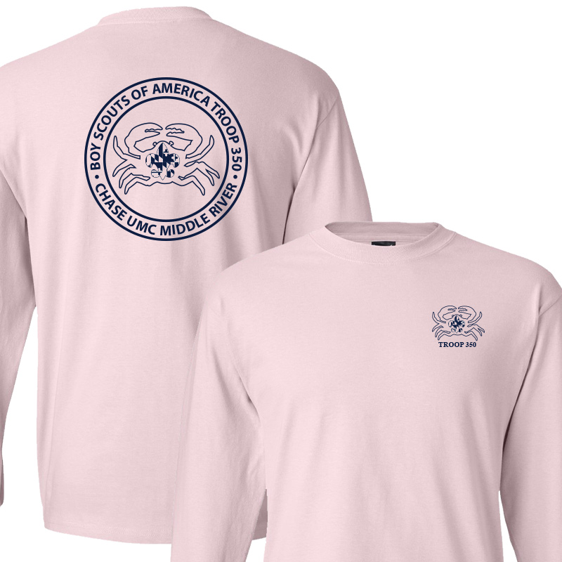BSA 350 Long Sleeve T-Shirt - Pale Pink