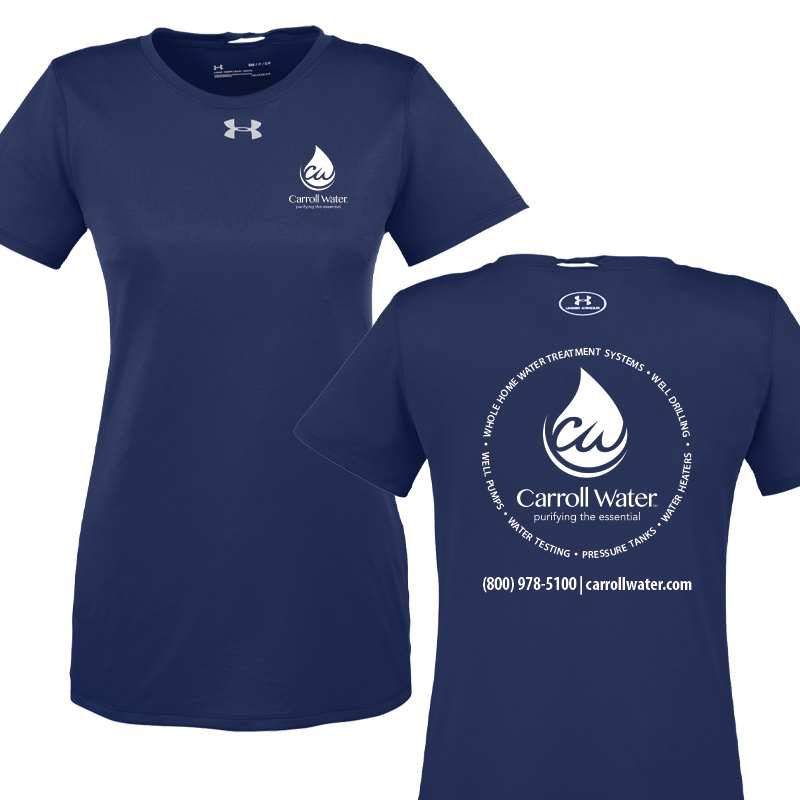 Carroll Water Under Armour Ladies' Performance Tees - Navy