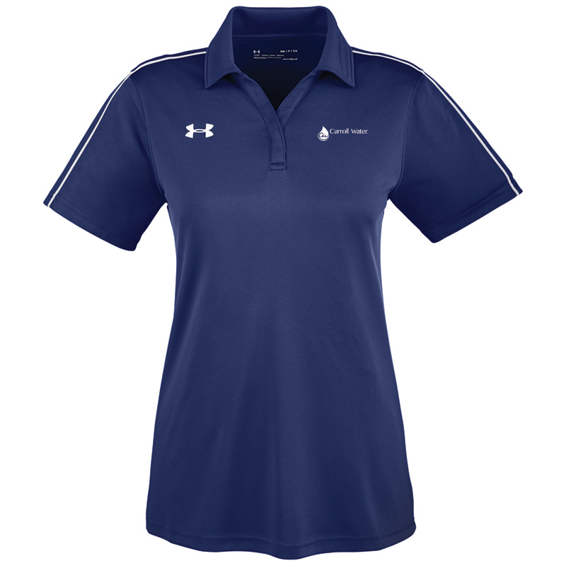 Carroll Water Under Armour Ladies' Tech Polo - Navy- White Logo