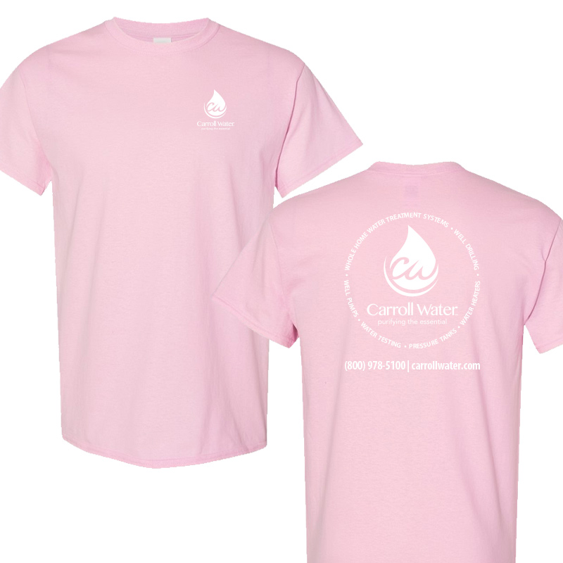 Carroll Water (Youth Colors) 100% Cotton Short Sleeve Tee - Lt. Pink