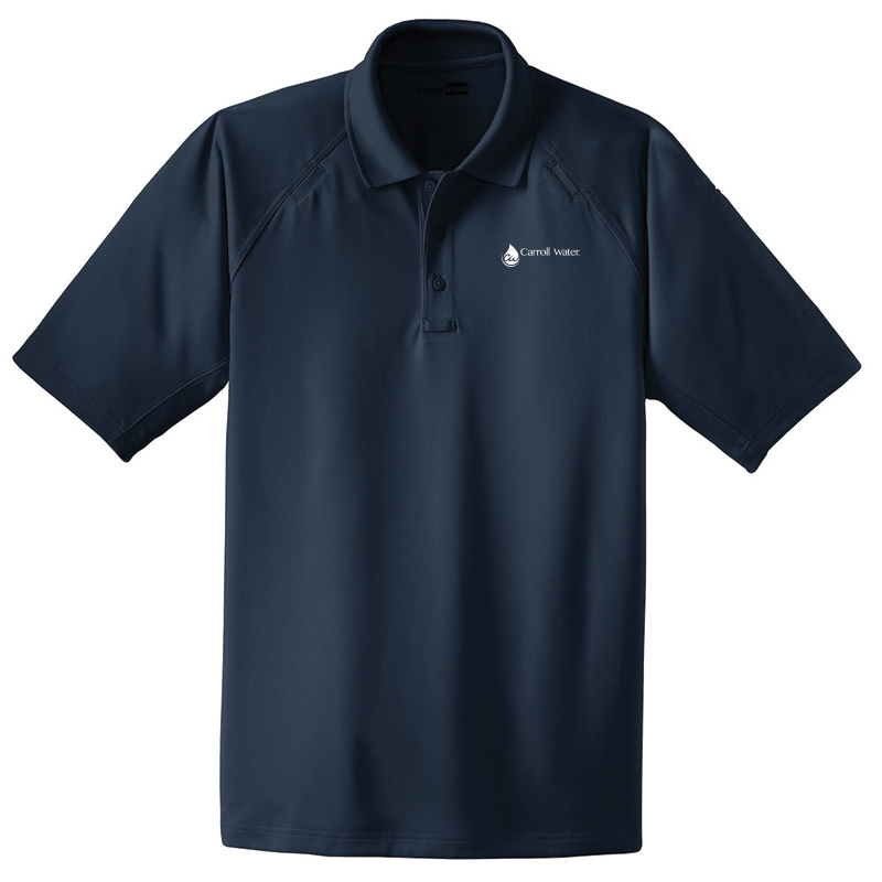Carroll Water Industrial Snag Proof Work Polo - Navy- White Logo
