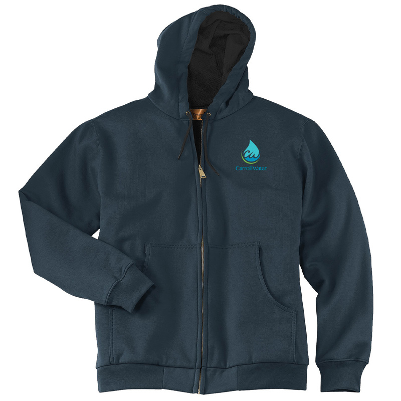 Carroll Water CornerStone® - Heavyweight Full-Zip Hooded Sweatshirt with Thermal Lining - Navy